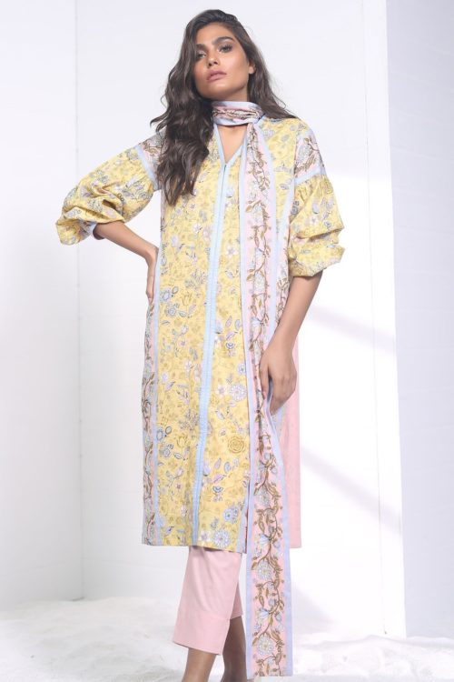Alkaram Spring Summer Vol 2 SS-19.1-19-2-Yellow HOT