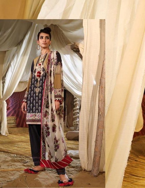Mahay ' 19 Unstitched Collection by Sana Safinaz 15B RESTOCKED