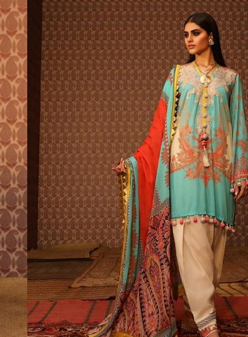 Mahay ' 19 Unstitched Collection by Sana Safinaz 12A