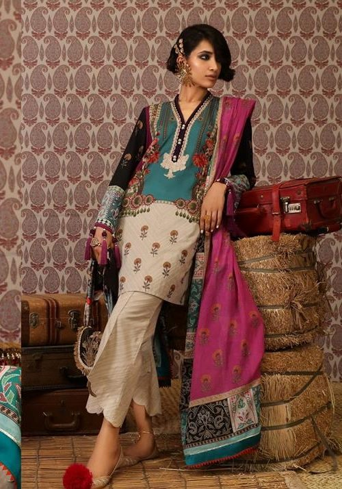 Mahay ' 19 Unstitched Collection by Sana Safinaz 1A