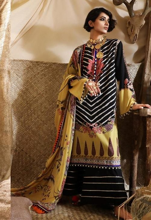 Mahay ' 19 Unstitched Collection by Sana Safinaz 3A