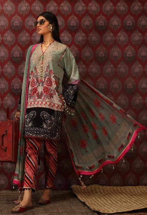 Mahay ' 19 Unstitched Collection by Sana Safinaz 7B RESTOCKED