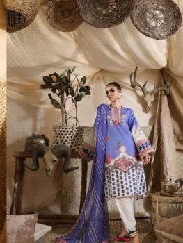 *On Sale* Mahay ' 19 Unstitched Collection by Sana Safinaz 13A Chiffon Dupatta Salwar Suit