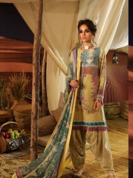 Mahay ' 19 Unstitched Collection by Sana Safinaz 4A