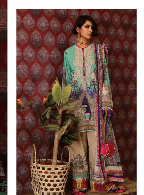 Mahay ' 19 Unstitched Collection by Sana Safinaz 8B