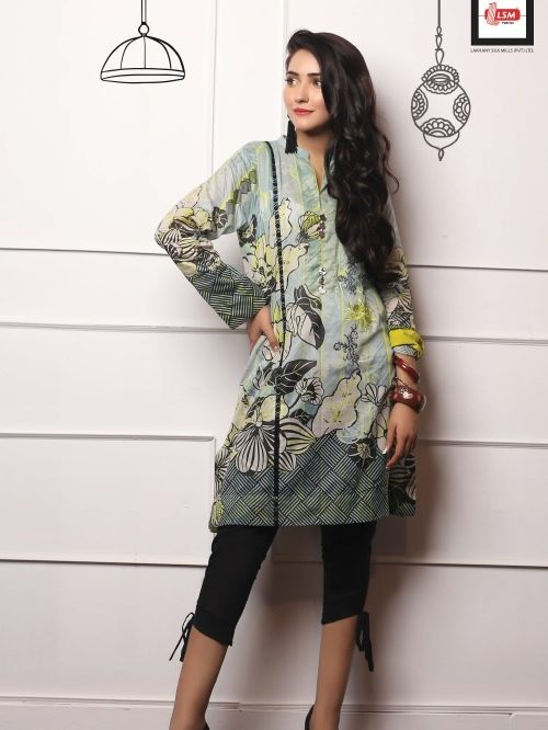 LSM Pakistani Kurti Embroidered Collection 2019 DK1006 RESTOCKED