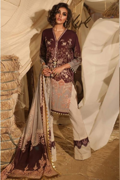 Mahay ' 19 Unstitched Collection by Sana Safinaz 6B HOT