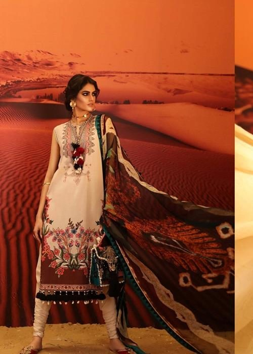 *Hot on Sale* Mahay ' 19 Unstitched Collection by Sana Safinaz 9B –  FSTN HOT best pakistani suits collection