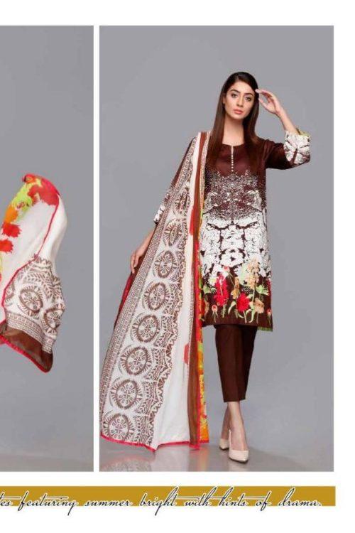 Plush Gold by Riaz Arts - Original Plush Gold by Riaz Arts Chiffon Dupatta Salwar Suit