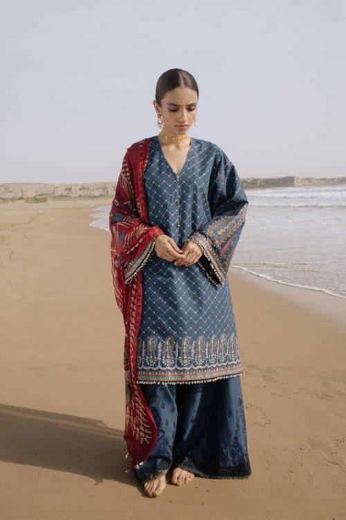 Zara Shahjahan Luxury Lawn 2019 FEROZA-D6