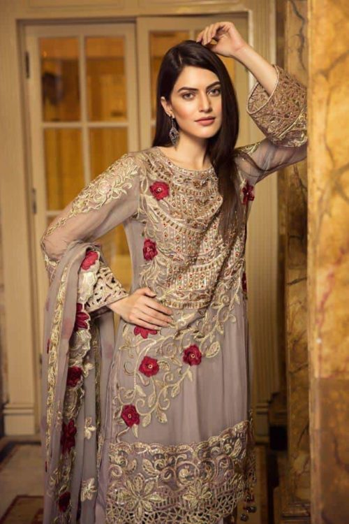 *On Sale* Zircon by Zebtan Chiffon Dupatta Salwar Suit
