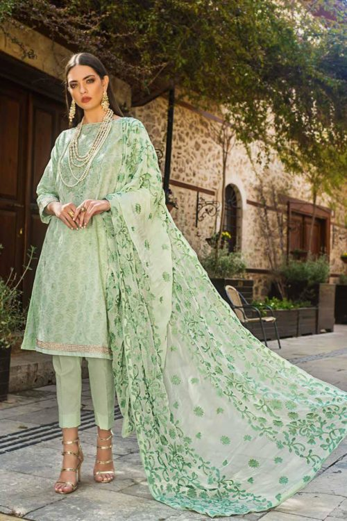*Hot on Sale* Gul Ahmed Eid ul Azha – Rasm Collection 2019 – EA 69 HOT Chiffon Dupatta Salwar Suit