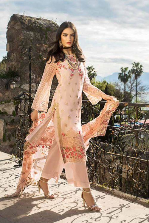 *Hot on Sale* Gul Ahmed Eid ul Azha – Rasm Collection 2019 – EA 92 HOT Chiffon Dupatta Salwar Suit