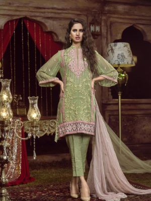 chiffon pakistani dress