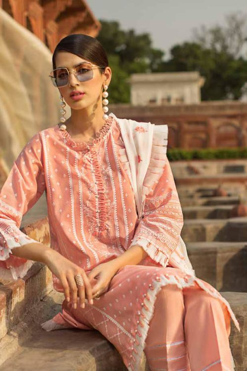 *On Sale* Gul Ahmed Eid ul Azha – Rasm Collection 2019 – EA 66 Chiffon Dupatta Salwar Suit