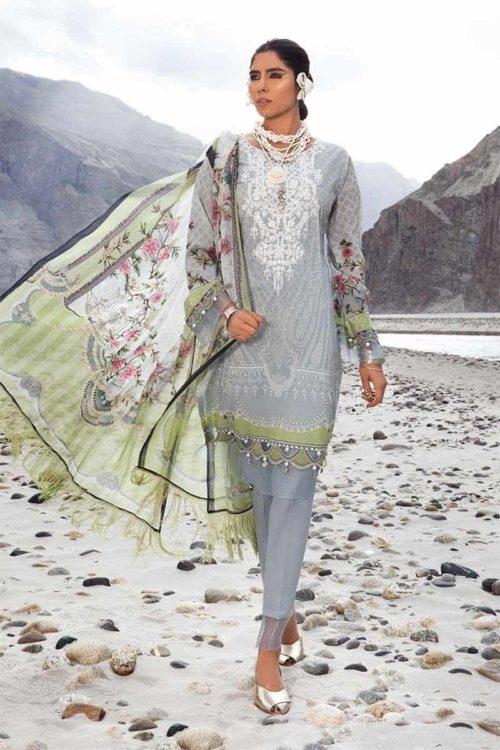 *On Sale* MARIAB MPRINTS KATPANA 2A Chiffon Dupatta Salwar Suit
