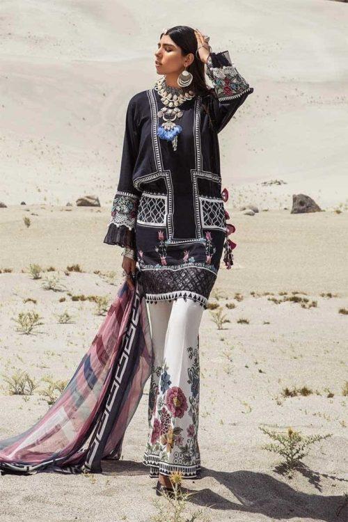 *On Sale* MARIAB MPRINTS KATPANA 10B RESTOCKED Chiffon Dupatta Salwar Suit