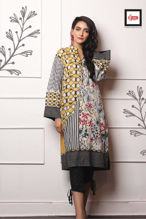 LSM Pakistani Kurti Embroidered Collection 2019 DK1007 RESTOCKED