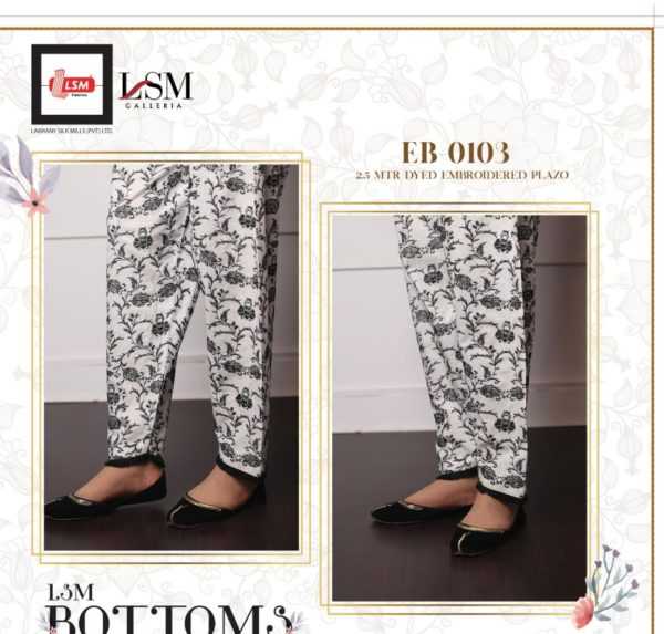 LSM Pakistani Embroidered Bottoms – Pants – Trousers