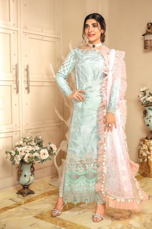 *Hot on Sale* Rang Rasiya's Luxury Festive Carnation HOT Chiffon Dupatta Salwar Suit