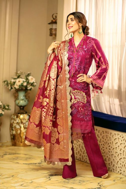 *On Sale* Rang Rasiya's Luxury Festive Carnation –  RESTOCKED Chiffon Dupatta Salwar Suit