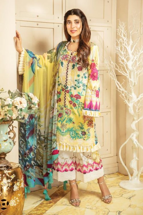 *On Sale* Rang Rasiya's Luxury Festive Carnation RESTOCKED Chiffon Dupatta Salwar Suit
