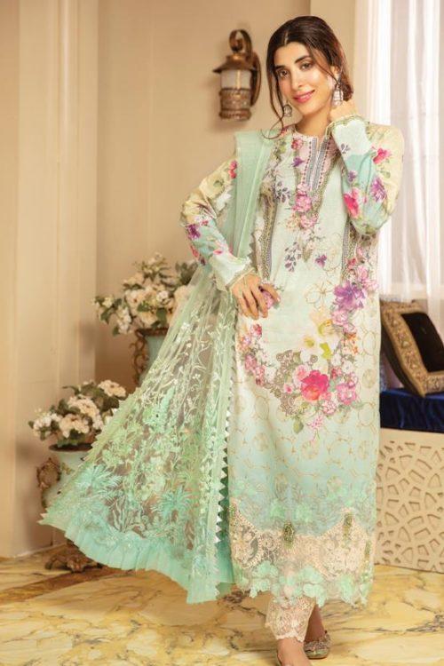 Rang Rasiya Rang Rasiya's Luxury Festive Carnation Chiffon Dupatta Salwar Suit