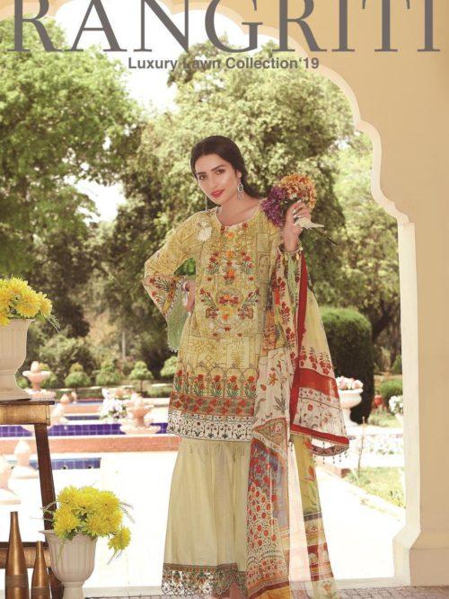 Rangriti Luxury Festive Lawn Collection 2019 - Original