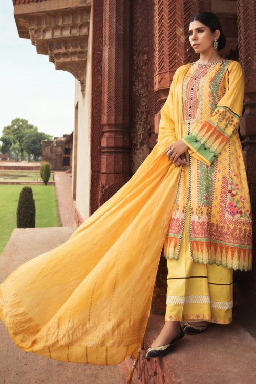 Sapphire Intermix Autumn 2019 Mor Bagh Classic 3 Piece – Haldi Dress for Wedding