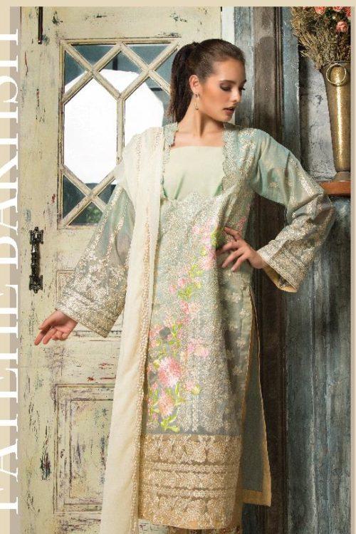 *On Sale* Mayeda Peerzada Chikankari Lawn Chiffon Dupatta Salwar Suit