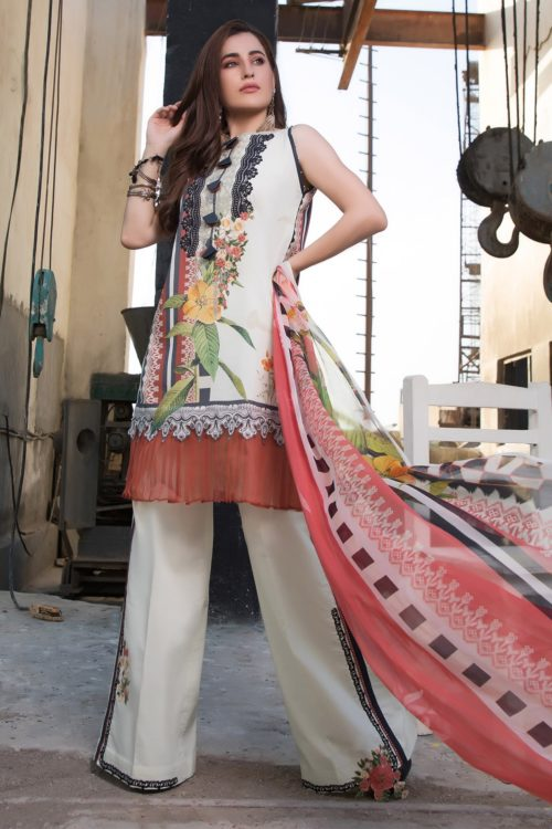 Ombre by Firdous Embroidered Lawn 19218-A HOT