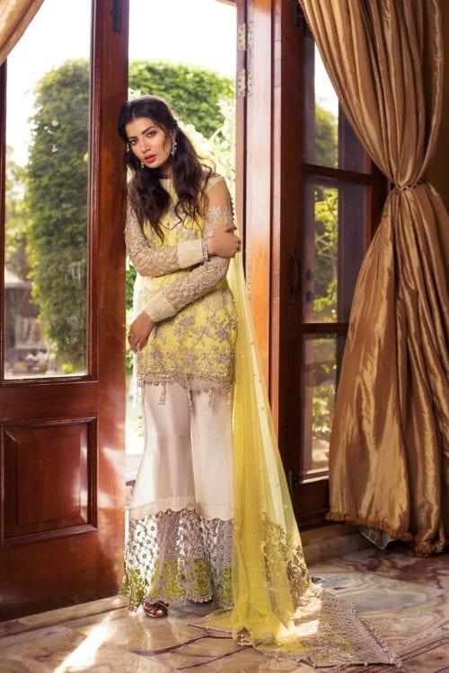 Rozina Munib's Festive Chiffon RM-2 Yellow Dress