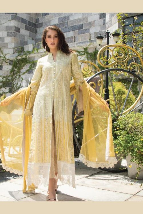 *Hot on Sale* Mayeda Peerzada Chikankari Lawn HOT Chiffon Dupatta Salwar Suit