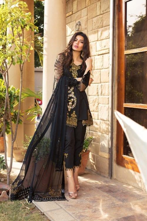 Rozina Munib's Festive Chiffon RM-4 Black Salwar Kameez