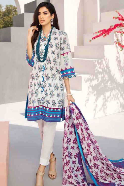 GulAhmed Mal Mal Collection 3 PC Lawn Suit  CL-503 A Best Sellers Restocked best pakistani suits collection