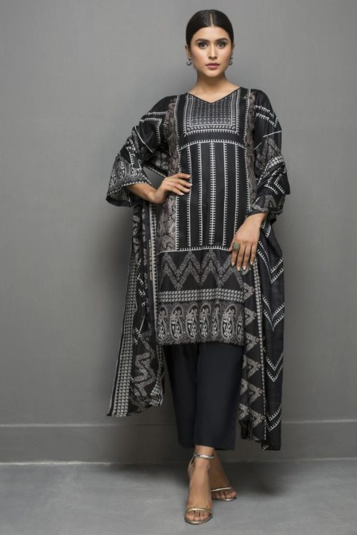 Kalyan Black & White Lawn - Original