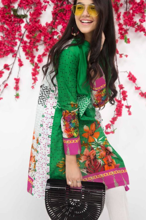 Bagh-E-Gul Mid-Summer Kurti Collection by Gul Ahmed - Original