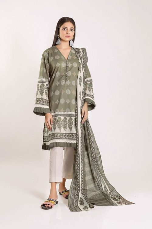 Khaadi Mid Summer Autumn Green – L19415