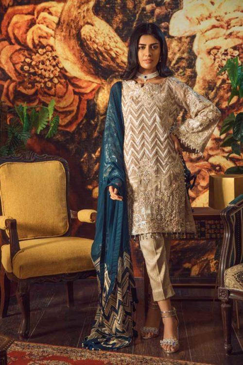Adan Libas Guzarish Wedding Festive Luxury Chiffon Salwar Kameez  Design 1 RESTOCKED