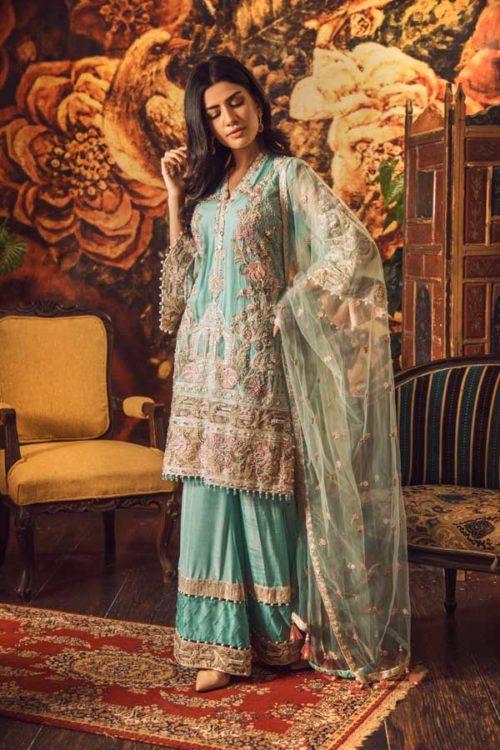 Adan Libas Guzarish Wedding Festive Luxury Chiffon Salwar Kameez  Design 6 RESTOCKED