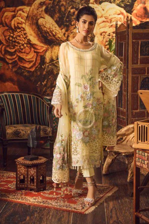 Adan Libas Guzarish Wedding Festive Luxury Chiffon Salwar Kameez  Design 3 RESTOCKED