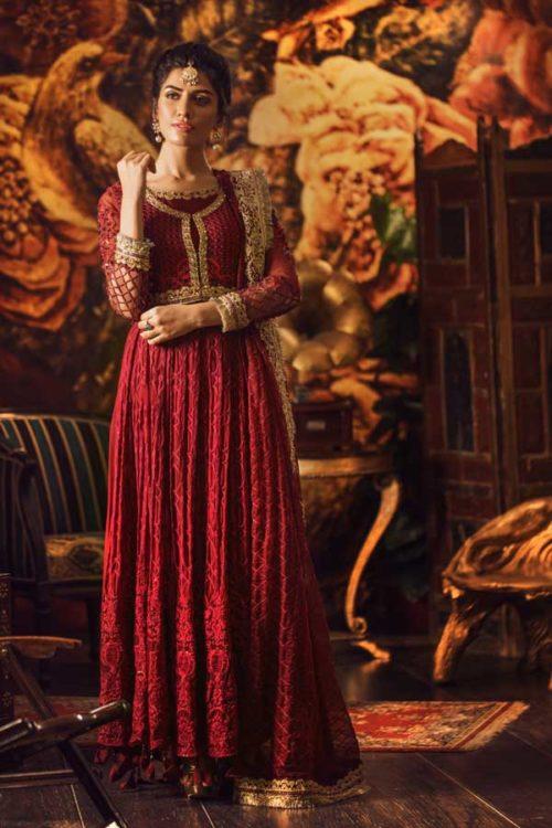 Adan Libas Guzarish Wedding Festive Luxury Chiffon Salwar Kameez  Design 5