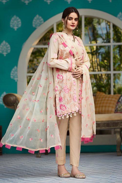 Raaya Embroidered Lawn Karandi by Rang Rasiya - Original