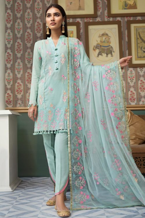 Raaya Embroidered Lawn Winter Karandi  by Rang Rasiya  D 703 A