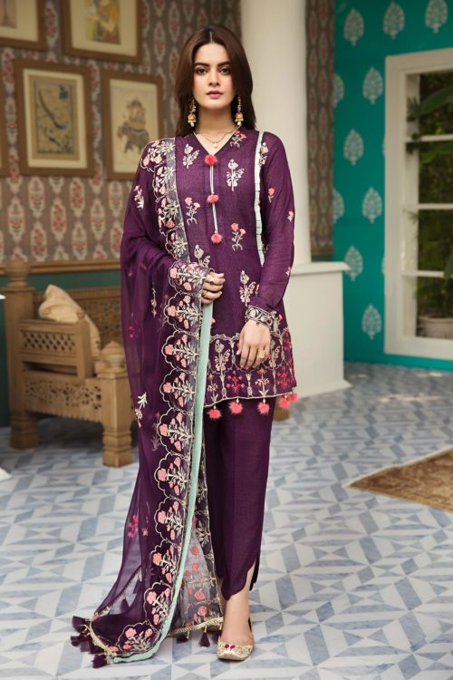 Raaya Embroidered Lawn Winter Karandi  by Rang Rasiya  D 703 B RESTOCKED