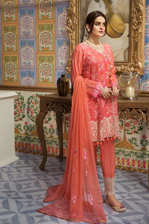 Raaya Embroidered Lawn Winter Karandi  by Rang Rasiya  D 704 A