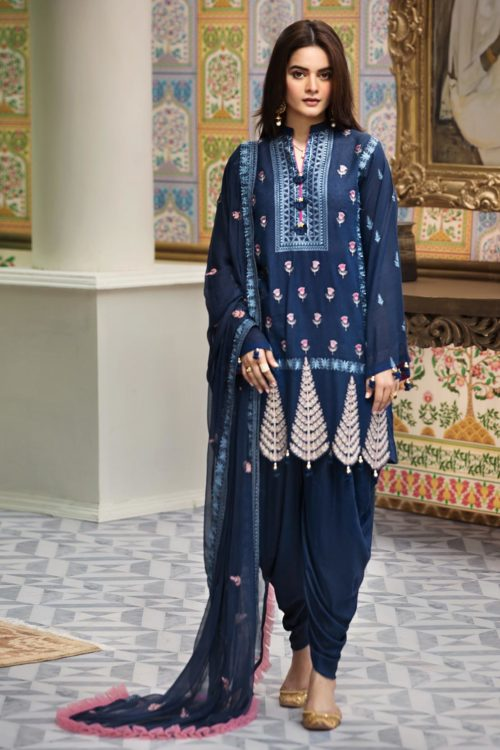 Raaya Embroidered Lawn Winter Karandi  by Rang Rasiya  D 705 A