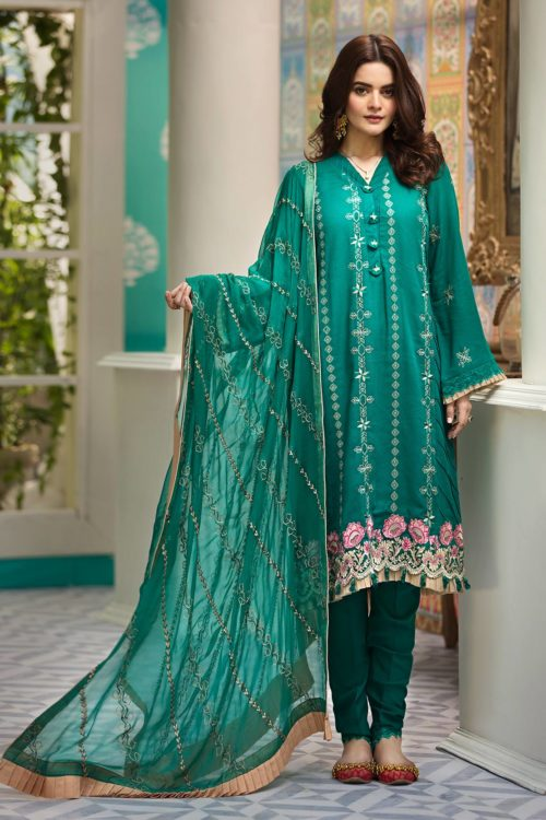 Raaya Embroidered Lawn Winter Karandi  by Rang Rasiya  D 706 A