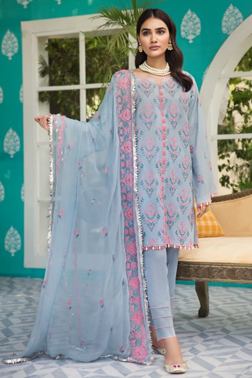 Raaya Embroidered Lawn Winter Karandi  by Rang Rasiya  D 701 A