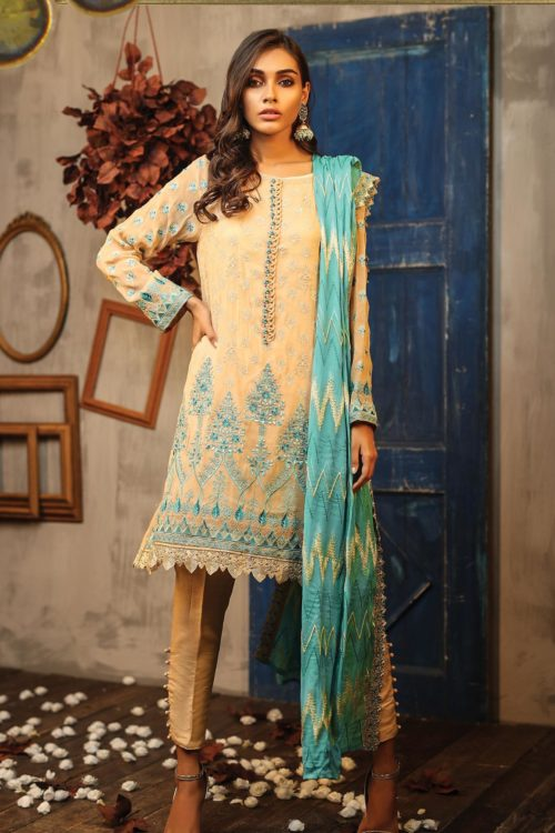 LSM Lakhany Exclusive DAASTAN Formal Embroidered Collection Design 9902
